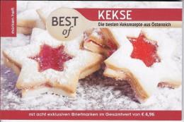 Gastronomie 8 Exclusieve Zegels In Boekje Met Recepten - Autriche