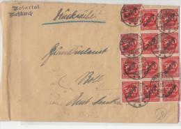 Allemagne Inflation En 1923 Lettre De Service - Germany