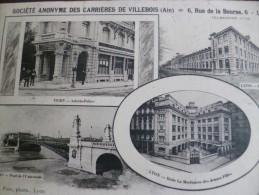 CPA Ain Pub  Société Anonyme Des Carrières De Villebois . Siège à Lyon - Autres Communes