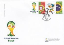 Portogallo 2014 -FDC  Serie 2 Stamps**    Mondiali Calcio Brasile 2014 - 2014 – Brasile