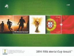 Portogallo 2014 - Foglietto**   Mondiali Di Calcio Brasile 2014 - Coupe Du Monde