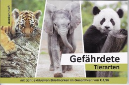 Boekje Met 8 Exclusive Zegels Beschermde Dieren - Autriche