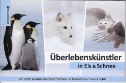Dieren Boekje Met 8 Exclusive Zegels Overlevingskunstenaars - Autriche
