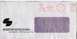 EMA Textile,Société Des Textiles En Biais,neud De Papillon,femme Tricote,68 Saint Louis,Haut Rhin,lettre 28.2.1986 - Textile