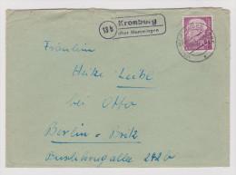 Heimat DE BAY Kronburg (Memmingen 1955-10-13) Brief Nach Berlin - Lettres & Documents