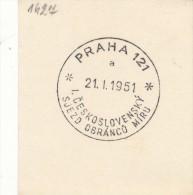 J4935 - Czechoslovakia (1951) Praha 121 (a): First Czechoslovak Congress Of Defenders Of Peace - History