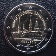 LATVIA COMMEMORATIVE COIN 2 EURO EUR 2014 RIGA EUROPEAN CAPITAL OF CULTURE UNC (FROM ROLL) - Lettonie