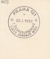 J4939 - Czechoslovakia (1951) Praha 121 (c): First Czechoslovak Congress Of Defenders Of Peace - History
