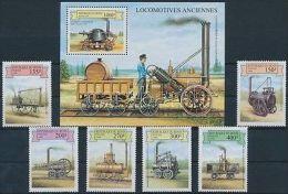 Benin Stamp Steam Engines And Steam Cars Set + Block 1999 MNH WS177886 - Benin - Dahomey (1960-...)