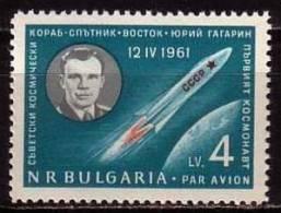 BULGARIA \ BULGARIE / BULGARIEN - 1961 - Gagarin - Le Premier Cosmonaut - 1v ** - Bulgarie