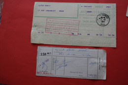 RARE1963 ORAN-MUNICIPAL USAGE TARDIF>DOCUMENTS ADMINISTRATIFS AV INDEPENDANCE ALGERIE TAXES MOBILIERE/PRES AVERTISSEMENT - Algeria (1924-1962)