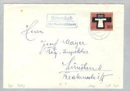 Heimat DE BAY Krumbad 1959 über Krumbach Brief > München - [7] République Fédérale