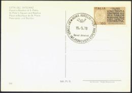 Esperanto Italia 1978 30th Congress Railway Worksers Special Postmarks On Postcard Vatican Travelled Bb150916 - Esperanto