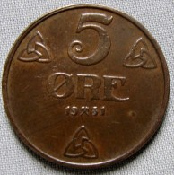NORWAY 1922 - 5 ORE - Norway