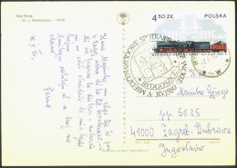 Esperanto Poland 1980 Bydgoszcz Special Postmark On Postcard Nad Brda Travelled Bb150916 - Esperanto