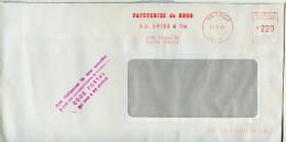 Tampon En Violet CODE POSTAL Apposé Par La Poste,EMA Chimie,papeterie Du Nord SA Havez&Cie,59 Croix,Nord,lettre 17.3.198 - Postleitzahl