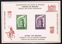 Année 1956 - LX21**  (994/95)Europa 1956 .     Cote 37,00€ - Deluxe Panes