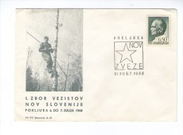 SLOVENIA  SLOVENIJA 1968 POKLJUKA ZBOR VEZISTOV TELECOMMUNICATION COMMEMORATIVE COVER YUGOSLAVIA JUGOSLAVIJA - Slovenia