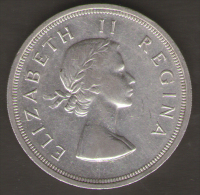 SUD AFRICA 5 SHILLINGS 1958 AG SILVER - Sud Africa