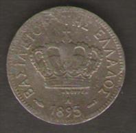 GRECIA 5 LEPTA 1895 - Grecia