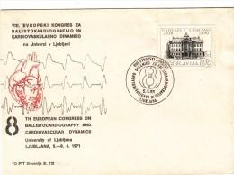 JUGOSLAVIJA YUGOSLAVIA SLOVENIJA LJUBLJANA 1971 EUROPEAN CONGRESS BALLISTOCARDIOGRAPHY CARDIOVASCULAR DYNAMICS MEDICINE - Slovenia
