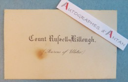 CDV Count Rafaell Killough Barons Of Uster - Comte Rafael Killough Baron D'Uster - Noblesse Aristocratie - Cartes De Visite