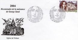 Enveloppe 1er Jour Bicentenaire De La Naissance De George Sand - Année 2004 - Usati