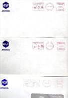JEUX OLYMPIQUES D'HIVER ALBERTVILLE 1992 Série De 11 EMPREINTES MECANIQUES Rouges AGF Toutes Différentes - Invierno 1992: Albertville