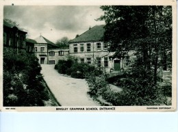 ENGLAND ANGLETERRE BINGLEY GRAMMAR SCHOOL ENTRANCE BELLE CARTE RARE !!! - Bradford