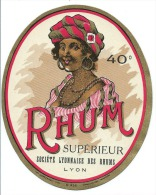 Ancienne étiquette Rhum Supérieur Ste Lyonnaise Des Rhums Lyon  N°496 - Rhum