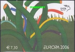 Europa Cept  2006 Greece Booklet ** Mnh (19305) - 2006