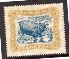 1923 Liberia Hippo MH Michel No. 237 CV €32 (L8) - Liberia