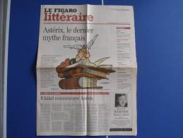 ASTERIX - PRESSE - LE FIGARO LITTERAIRE 27 JANVIER 2000 - ASTERIX LE DERNIER MYTHE FRANCAIS - ARTICLE - 3 PAGES - Astérix