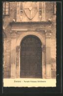 Cartolina Ferrara, Portale Palazzo Schifanoia - Ferrara