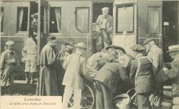 65 LOURDES. Arrivée Train De Malades 1906 - Lourdes