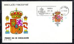 ESPAÑA 1983.SOBRE 1er. DIA FDC  EDIFIL Nº 2685. ESCUDO DE  ESPAÑA     CN6356 - FDC