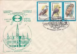 ESPERANTO WORLD CONGRESS, SPECIAL COVER, 1992, ROMANIA - Esperanto
