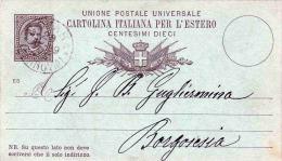 ITALIEN 1889 - Dieci Centisime Ganzsache Auf Pk Von ? Nach Borgosesia? - 1878-00 Humbert I.