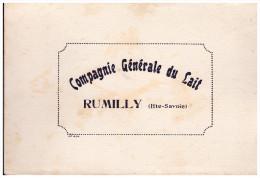 Buvard COMPAGNIE GENERALE DU LAIT à RUMILLY Haute Savoie (B029) - Agriculture
