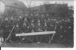 Soldats Allemands Saxons Du 102ème Landwehr Inf.Rgt. 1 Carte Photo 1914-1918 14-18 Ww1 Wk1 - War, Military