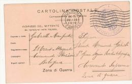 CARTOLINA POSTALE - CORR. DEL R.ESERCITO - TRENO TRASPORTO FERITI E MALATI - BOLOGNA FERROVIA - ZONA DI GUERRA -1916 - 1900-44 Vittorio Emanuele III