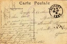 1916 - Bourges - Tampon : Centre D'instruction Des Mitrailleurs - Le Vaguemestre - FRANCO DE PORT - Marcophilie (Lettres)