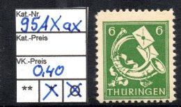 Thüringen MiNr.: 95 AX Ax Postfrisch - Sowjetische Zone (SBZ)
