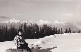 24442   Photo  Grachen Grächen Suisse, Février 1965 - Montagne