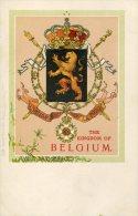 BELGIUM - Heraldic -  Coat Of Arms Of The Kingdom Of Belgium - Rapahel Tuck PC - Cartoline