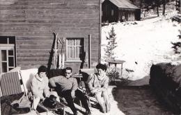 24445   Photo  Grachen Grächen Suisse, Février 1965 - Montagne Hotel Alpine Ski Vacances