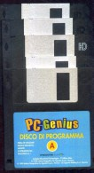 PC GENIUS 5 DISCHETTI PROGRAMMA A B C D E   WIN - 3.5 Disks