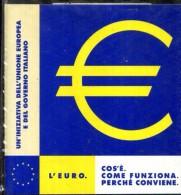 X L'EURO COSA E' COME FUNZIONA PERCHE' CONVIENE DISCHETTO MINISTERO DEL TESORO WIN 95 - Disks 3.5