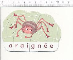 Petit Puzzle Araignée Avec Des Bottes Humour Chaussures / Spider Insect Humor // IM 51-P3 - Ohne Zuordnung