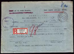 A3331) Generalgouvernement R-Rückschein Avis De Reception Von Landkron 21.11.1940 - Gobierno General